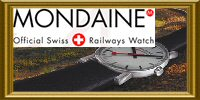 MONDAINE RAILWAYS WALL CLOCK